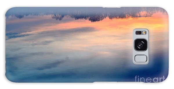 Delaware River Abstract Reflections Foggy Sunrise Nature Art Galaxy Case