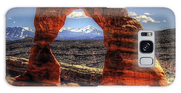 Delicate Arch Framing La Sal Mountains Galaxy Case