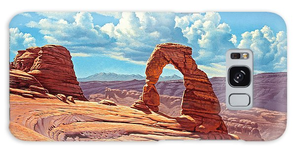 Arched Galaxy Case - Delicate Arch by Paul Krapf