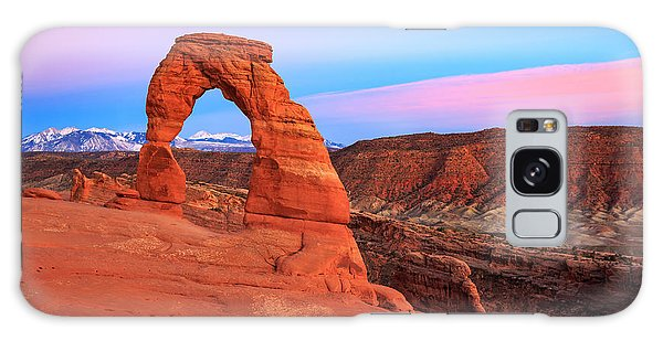 Delicate Arch Sunset Galaxy Case