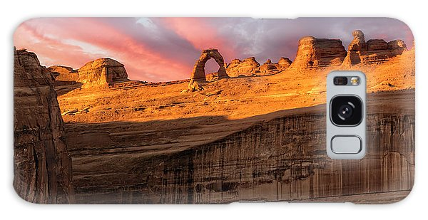 Galaxy Case featuring the photograph Delicate Arch   by Expressive Landscapes Fine Art Photography by Thom