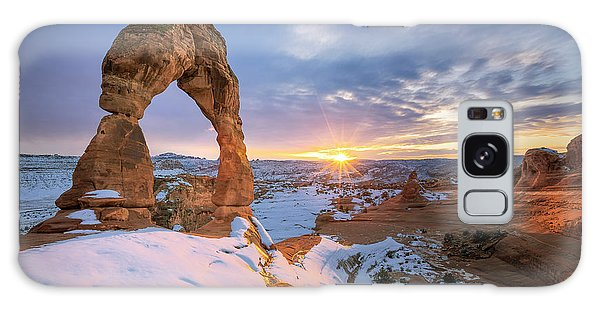 Delicate Arch Winter Galaxy Case