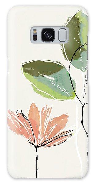 Peach Galaxy Case - Delicate Flower- Art By Linda Woods by Linda Woods