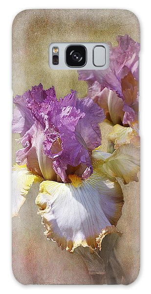 Delicate Gold And Lavender Iris Galaxy Case by Phyllis Denton