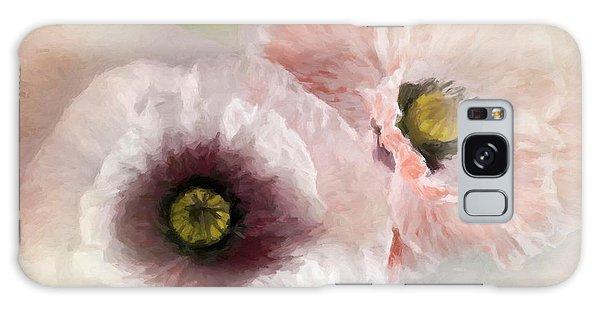 Delicate Pastel Poppies Galaxy Case