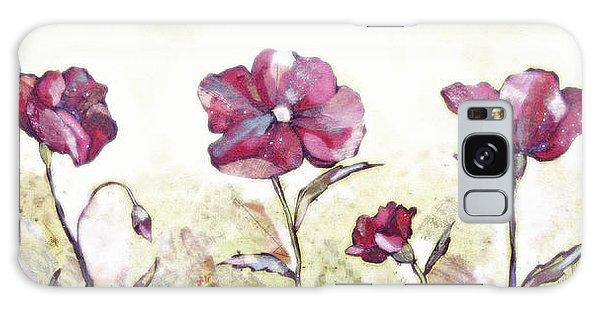 Soft Galaxy Case - Delicate Poppy II by Shadia Derbyshire