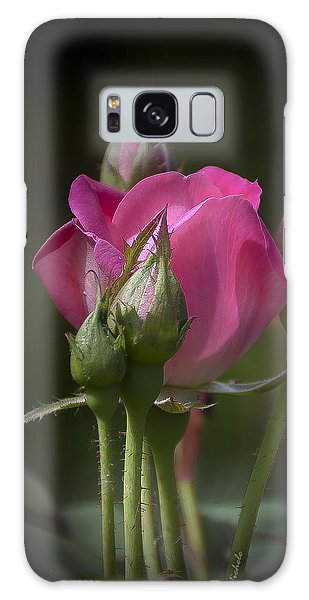 Delicate Rose With Buds Galaxy Case