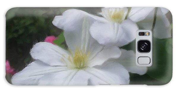 Delicate White Clematis Pair Galaxy Case