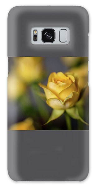 Delicate Yellow Rose  Galaxy Case by Terry DeLuco