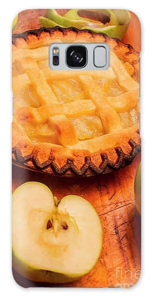 Made Galaxy Case - Delicious Apple Pie With Fresh Apples On Table by Jorgo Photography - Wall Art Gallery