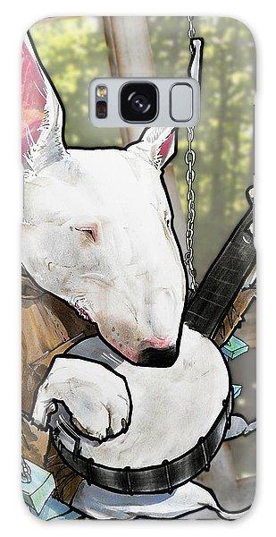 Deliverance Bull Terrier Caricature Art Print Galaxy Case
