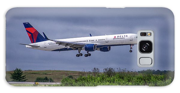Delta Air Lines 757 Airplane N557nw Art Galaxy Case
