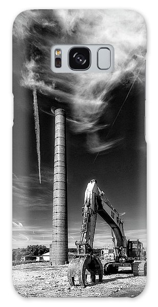 Galaxy Case featuring the photograph Demolition Sky by Alan Raasch