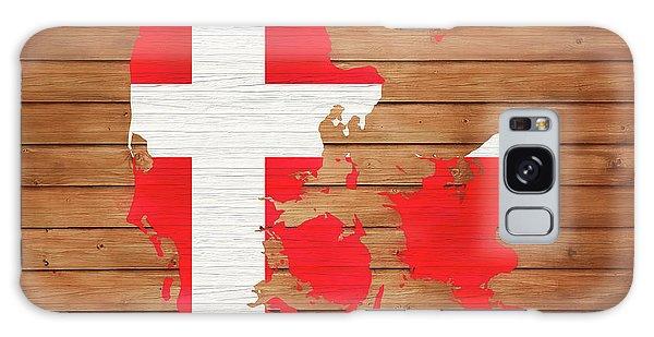 Traveler Galaxy Case - Denmark Rustic Map On Wood by Dan Sproul