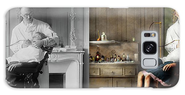 Galaxy Case featuring the photograph Dentist - Good Oral Hygiene 1918 - Side By Side by Mike Savad