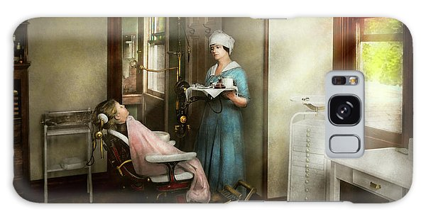 Galaxy Case featuring the photograph Dentist - Patients Is A Virtue 1920 by Mike Savad