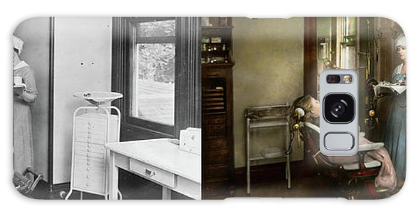 Galaxy Case featuring the photograph Dentist - Patients Is A Virtue 1920 - Side By Side by Mike Savad