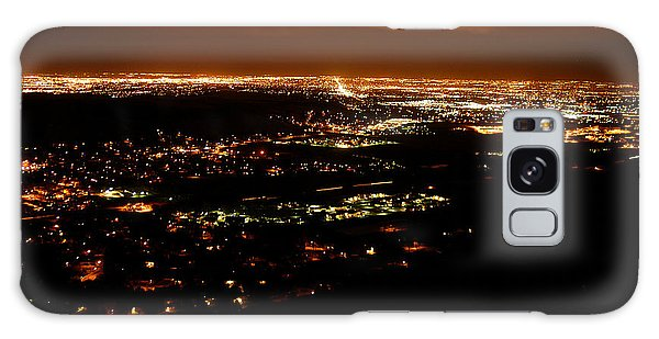 Denver Area At Night From Lookout Mountain Galaxy Case