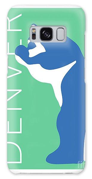 Denver Blue Bear/aqua Galaxy Case