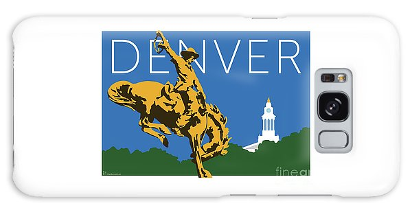 Denver Cowboy/dark Blue Galaxy Case