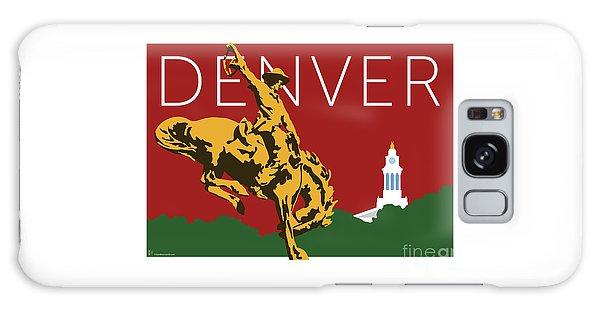Denver Cowboy/maroon Galaxy Case