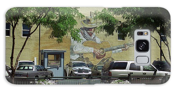Denver Cowboy Parking Galaxy Case by Frank Romeo