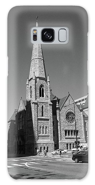 Denver Downtown Church Bw Galaxy Case by Frank Romeo