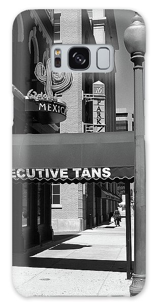 Denver Downtown Storefront Bw Galaxy Case by Frank Romeo