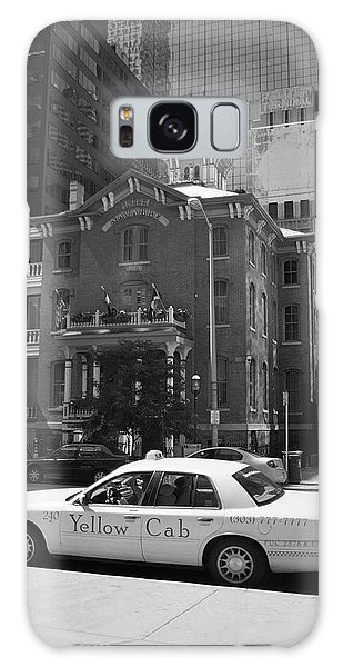 Denver Downtown With Yellow Cab Bw Galaxy Case by Frank Romeo