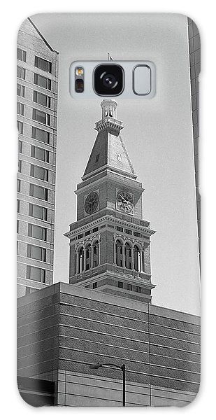 Denver - Historic D And F Clocktower 2 Bw Galaxy Case by Frank Romeo