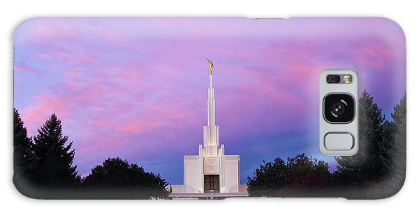 Denver Lds Temple At Sunrise Galaxy Case