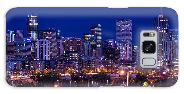 Denver Skyline At Night - Colorado Galaxy Case