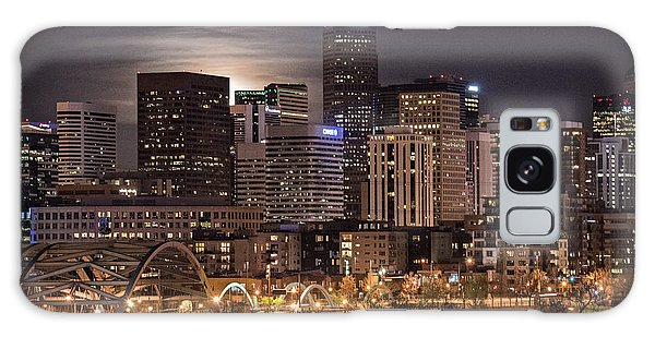 Denver Skyline At Night Galaxy Case