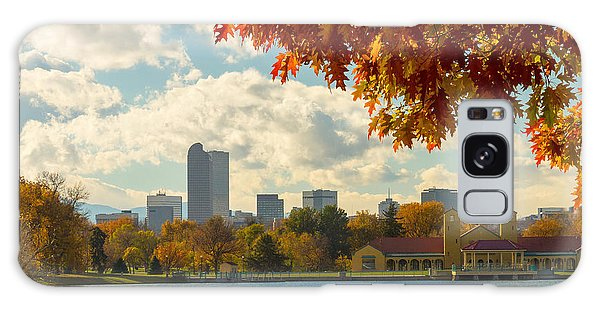 Denver Skyline Fall Foliage View Galaxy Case