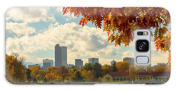 Denver Skyline Fall Foliage View Galaxy Case