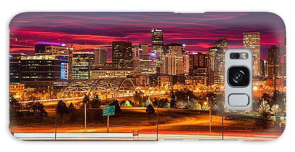 Denver Skyline Sunrise Galaxy Case