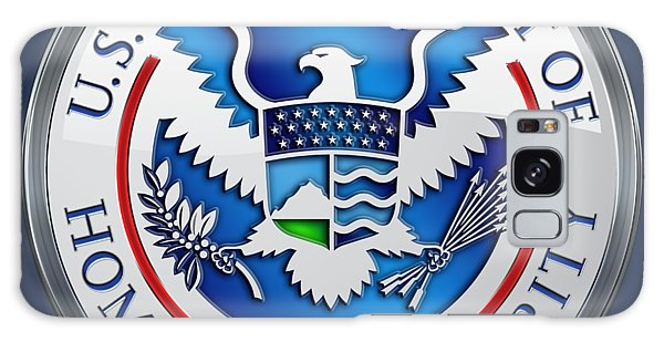 Department Of Homeland Security - D H S Emblem On Blue Velvet Galaxy Case