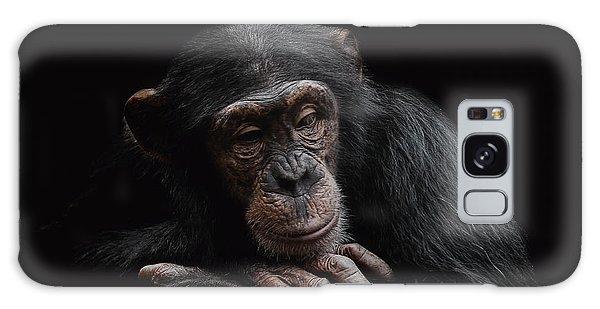 Chimpanzee Galaxy S8 Case - Depression  by Paul Neville