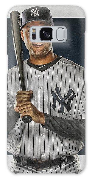 Derek Jeter Galaxy S8 Case - Derek Jeter New York Yankees Art by Joe Hamilton
