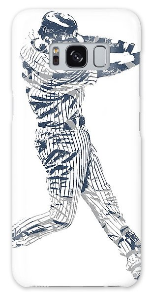 Derek Jeter Galaxy S8 Case - Derek Jeter New York Yankees Pixel Art 10 by Joe Hamilton