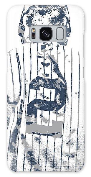 Derek Jeter Galaxy S8 Case - Derek Jeter New York Yankees Pixel Art 11 by Joe Hamilton