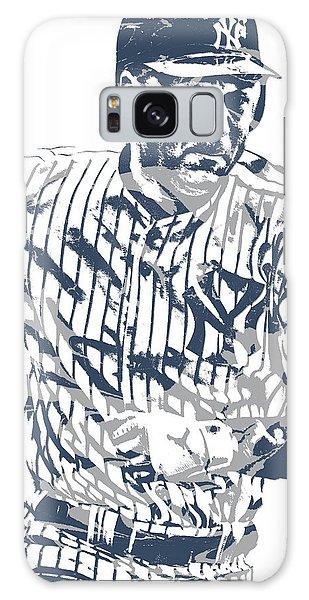 Derek Jeter Galaxy S8 Case - Derek Jeter New York Yankees Pixel Art 12 by Joe Hamilton