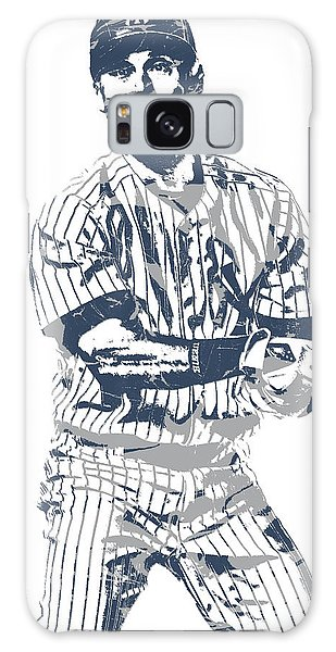 Derek Jeter Galaxy S8 Case - Derek Jeter New York Yankees Pixel Art 13 by Joe Hamilton