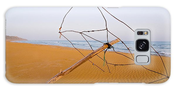 Galaxy Case - Derelict Umbrella On Deserted Beach by Iordanis Pallikaras