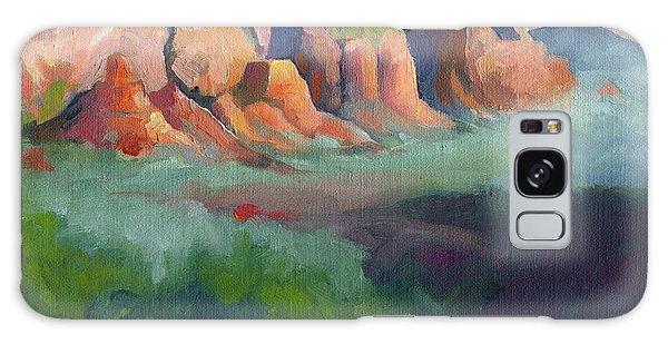 Desert Afternoon Mountains Sky And Trees Galaxy Case