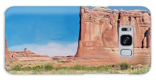 desert Butte Galaxy Case by Walter Colvin