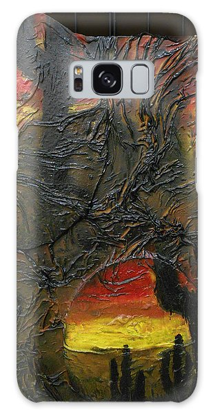 Desert Cactus Galaxy Case by Angela Stout