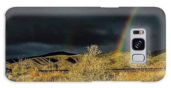 Desert Double Rainbow Galaxy Case