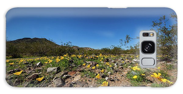 Desert Flowers In Spring Galaxy Case by Ed Cilley