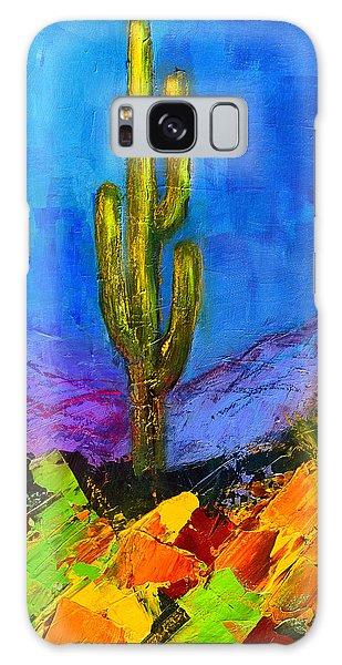 Desert Flora Galaxy Case - Desert Giant by Elise Palmigiani